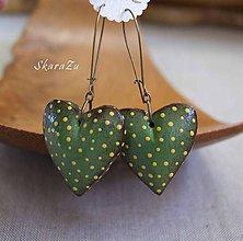 Náušnice - Heart dots / 3D - 11294197_