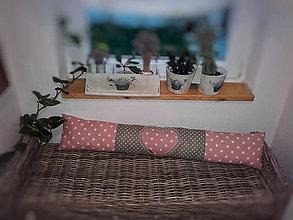Úžitkový textil - Polštář proti průvanu - průvaník Srdce v růžovém - 11293770_