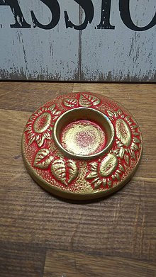 Dekorácie - Svietnik na čajovú sviečku Slnečnica - 11293723_