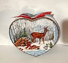 Krabičky - krabička vianoce v lese - 11297431_