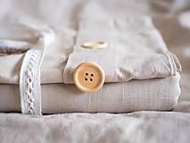 Úžitkový textil - Ľanové posteľné obliečky - 11297195_