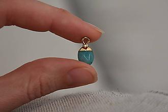 Minerály - Prívesok Amazonit 1.4cm, 2.10€/ks - 11295879_