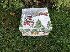 Krabičky - snehuliaci - 11295954_
