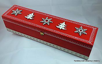 Krabičky - Vianočná krabička Snehová vločka - 11296899_