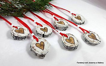 Dekorácie - Vianočné ozdoby Srdiečko - 11296981_