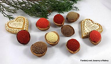 Dekorácie - Vianočné oriešky Škoricové - 11297027_