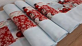 Úžitkový textil - Stredový obrus vianočný (134×34 modrá) - 11299903_