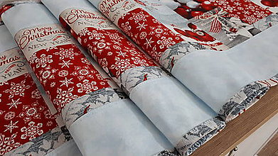 Úžitkový textil - Stredový obrus vianočný (136×38cm - Modrá) - 11299864_