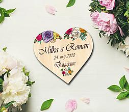 Darčeky pre svadobčanov - Svadobná magnetka - 11300093_