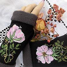 Rukavice - Romantické ruže... - 11300101_