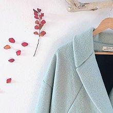 Kabáty - French coat .vlnený (Zelená) - 11298448_