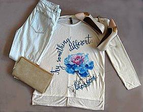 Topy - Maľovaný top Blossom - 11298810_