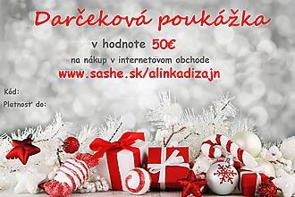 Darčekové poukážky - Darčeková poukážka v hodnote 50€ - 11299309_