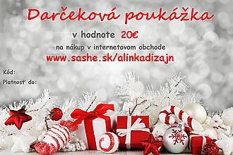 Darčekové poukážky - Darčeková poukážka v hodnote 20€ - 11299317_