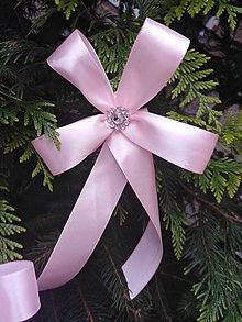 Dekorácie - mašle na vianočný stromček ružové - 11301147_