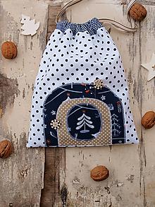 Textil - Mikulášske vrecko stromček - 11299843_