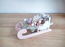 Dekorácie - vianočné sánky s nákladom :) svietnik - 11300784_