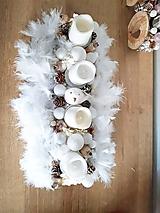 Dekorácie - zlato bielo béžový luxusný adventný svietnik s pierkami - 11300801_
