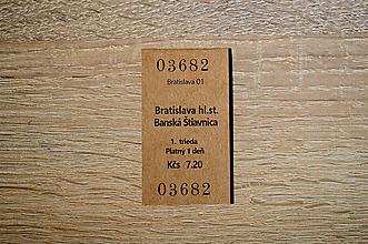 Papiernictvo - Magnetická záložka - cestovný lístok do Banskej Štiavnice - 11300623_