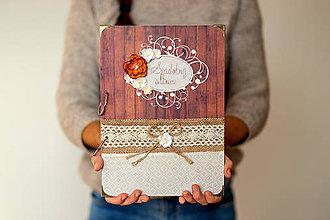 Papiernictvo - Fotoalbum svadobný * rodinný A4 na výšku - 11300836_