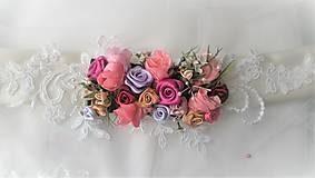 Opasky - Kvetinový opasok - 11299404_