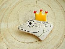 Odznaky/Brošne - Princ žabiak brošňa - 11299633_