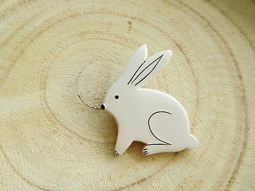 Zajačik brošňa