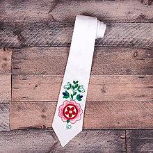 Doplnky - Vyšívaná kravata - folklór 9 - 11301593_