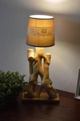 """Svietidlá a sviečky - Drevená lampa """"Brečtan"""" - 11300583_"""