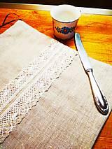 Úžitkový textil - L'anové vrecko na chlieb♥ - 11301335_