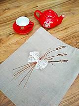 Úžitkový textil - L'anové vrecko na chlieb♥ - 11301376_