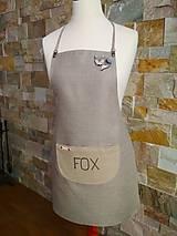 """Iné oblečenie - L'anová zástera """"CLEVER FOX""""♥ - 11301395_"""