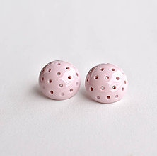 Náušnice - Romantické porcelánové... - 11300403_