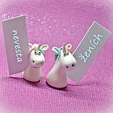 Darčeky pre svadobčanov - Svadobní jednorožci - menovky/darčeky pre hostí - 11300135_