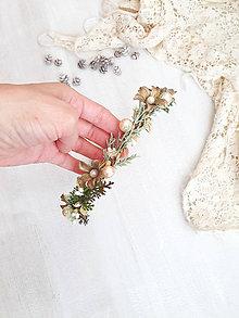 Ozdoby do vlasov - Kvetinová čelenka ,, vianočno-zimná,, - 11301545_