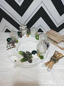 Svietidlá a sviečky - Adventný svietnik - 11301058_