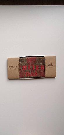 Úžitkový textil - ChleBag - Ľanové voskované vrecko na chlieb/pečivo (Červená) - 11299519_
