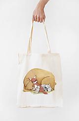Nákupné tašky - Plátená taška- spáči - 11299714_
