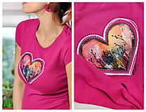 Tričká - Dámske tričko Berry Heart - 11299576_