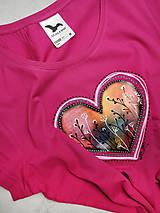 Tričká - Dámske tričko Berry Heart - 11299577_