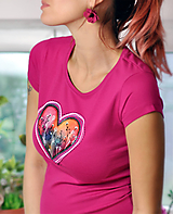 Tričká - Dámske tričko Berry Heart - 11299578_