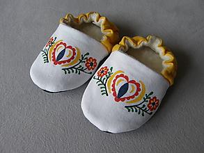 Topánočky - Papučky s ľudovým motívom - 11300810_