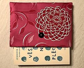 Papiernictvo - Obal na knihu — ružový kvet - 11298912_