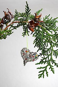 Dekorácie - Magické vianočné srdce - 11299068_