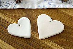 Dekorácie - Keramická ozdoba Srdiečko s čipkou  - 11298603_