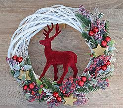Dekorácie - Venček vianočný s jeleňom - 11298660_
