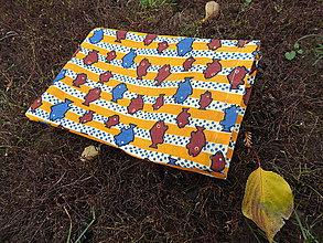 Úžitkový textil - malé voskované vrecko- rybka - 11299643_