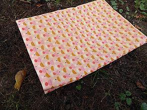Úžitkový textil - desiatové voskované vrecko -marhuľka - 11299664_
