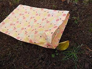 Úžitkový textil - desiatové voskované vrecko -marhuľka II. - 11299674_