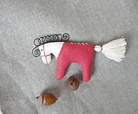 Dekorácie - koník (koník červený ľan) - 11300716_